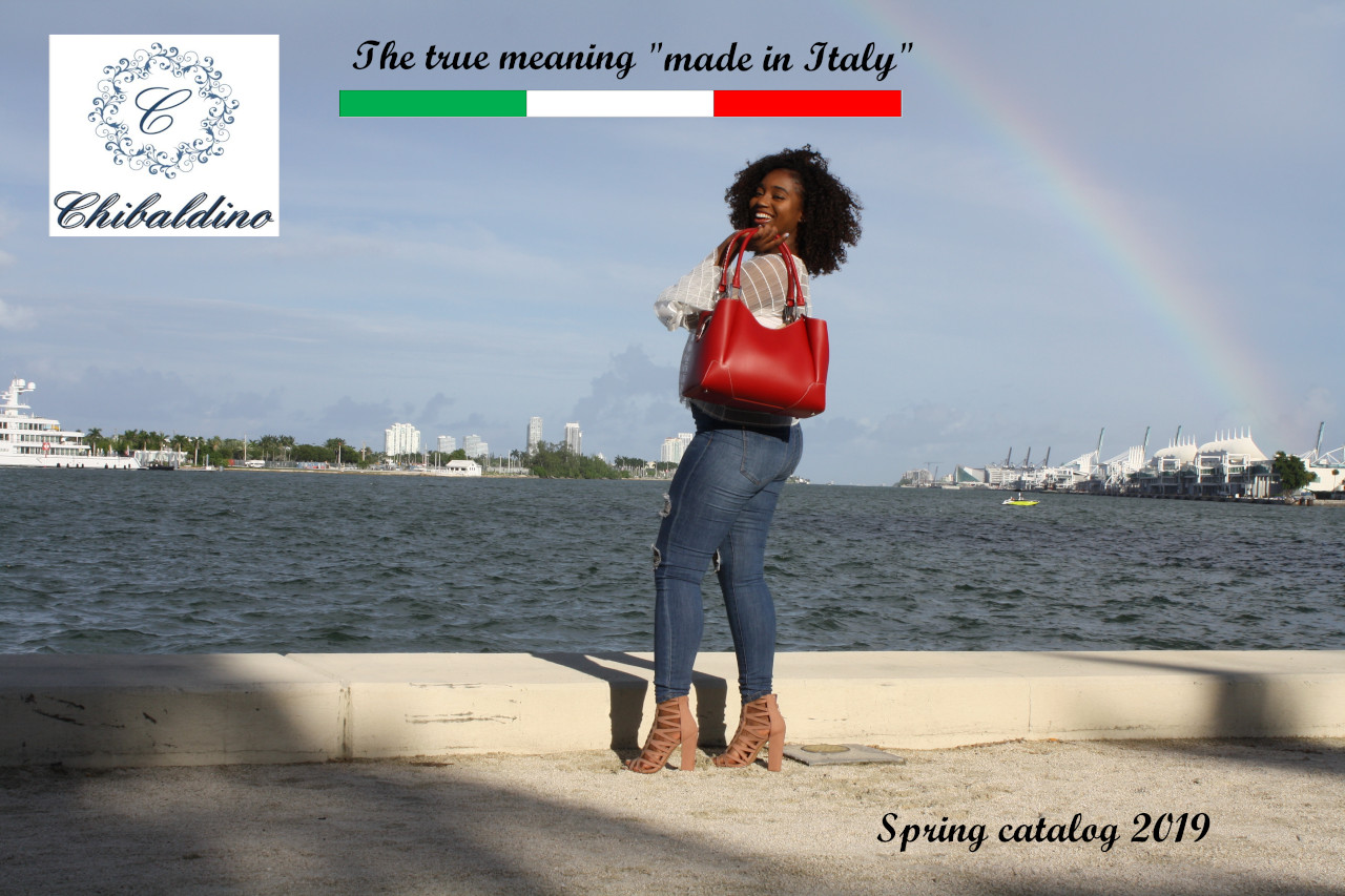 Leather bag Chibaldino, Made in Italy, Miami, Boca Raton, Palm Beach, Wellington